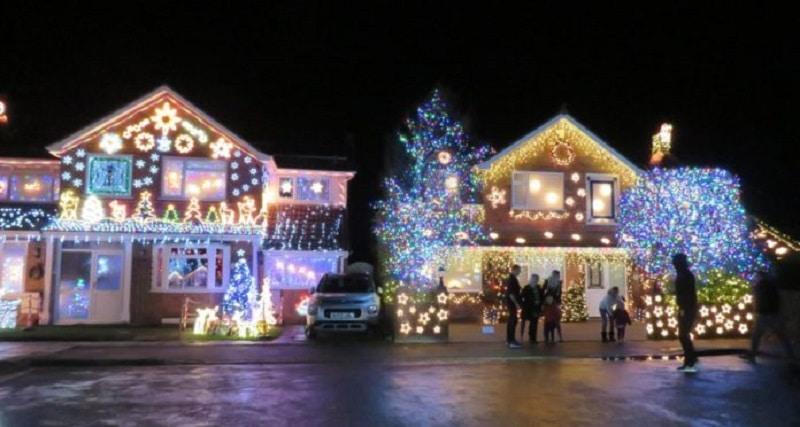 Trinity Close Burnham-on-Sea Christmas Lights